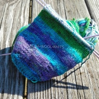 Frog Pond| Start of the knitted Slipper Socks & Project Notes